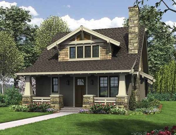 Craftsman Bungalow with Open Floor Plan and Loft: This home plan keeps everything homeowners love best about the traditional bungalow while also updating the bungalow style to better fit a modern family. House Plan No. 3254112: