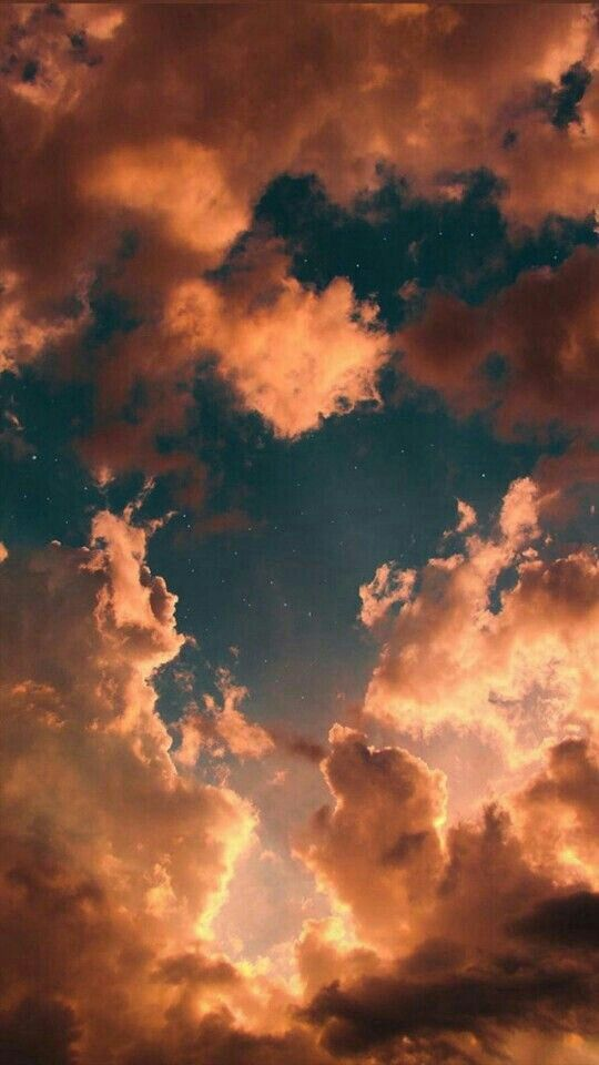 Orange Clouds Wallpaper With Images Sunset Wallpaper Iphone