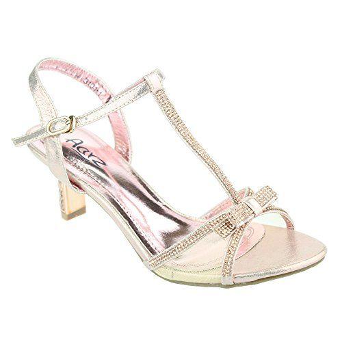 Aarz Frauen-Dame-Abend-Party-Hochzeit Braut Prom niedrige Ferse Diamante Sandale Schuh-Größe (Gold, Silber, Champagner) - http://on-line-kaufen.de/aarz-london/41-eu-aarz-frauen-dame-abend-party-hochzeit-braut-4