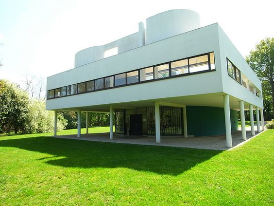 Terrace roof terraces and window on pinterest for Poissy le corbusier