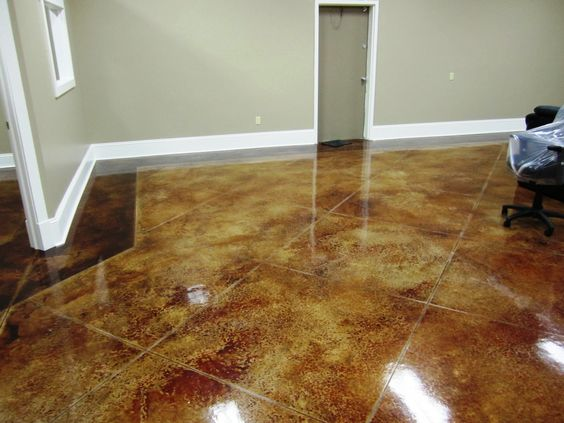 Millroi construction services decorative stained etched for Decorative concrete floors residential