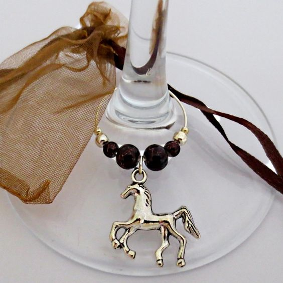 Horse...bottle and/or wine glass charm