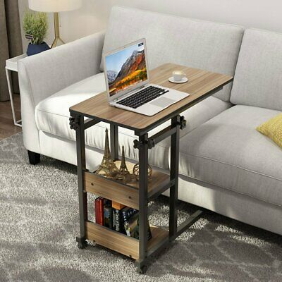 Tribesigns Mobile Snack Sofa Bedside Coffee Table Height Adjustable Rolling Cart 73 99 End Date Sunday Jul 28 20 Sofa Side Table End Tables Chair Side Table
