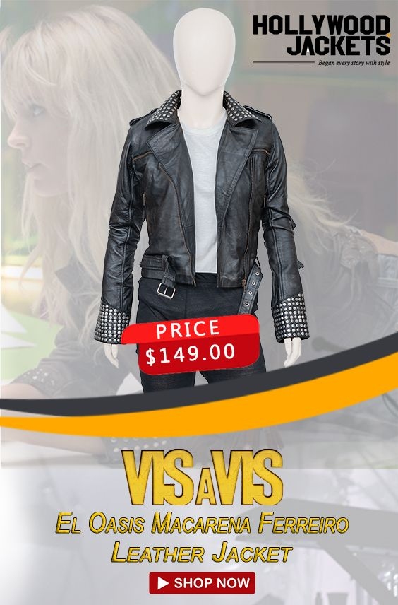 Vis A Vis El Oasis Macarena Ferreiro Leather Jacket Leather Jacket Shopping Womens Biker Jacket Leather Jacket