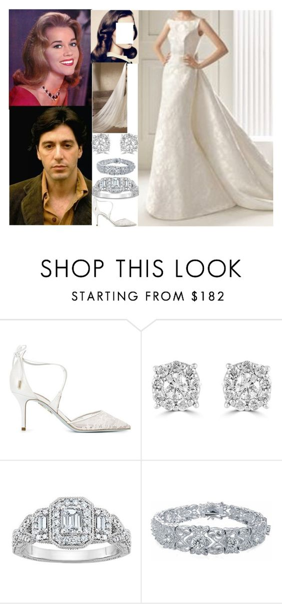 """""""The Devlin's Wedding Flashback #6: The wedding of Marie Devlin and Christopher Patel"""" by duchess-rebecca ❤ liked on Polyvore featuring Rosa Clará, Aquazzura, Effy Jewelry and Bling Jewelry"""
