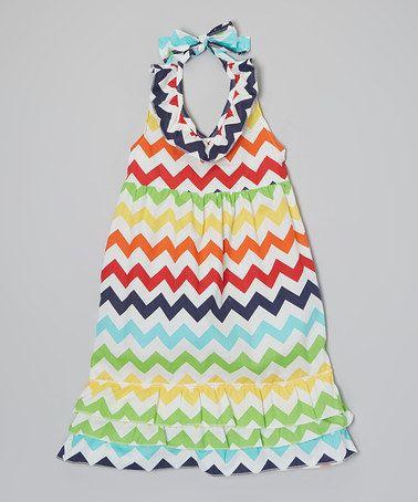 This Rainbow Ruffle Halter Dress - Toddler & Girls by Little Miss Fairytale is perfect! #zulilyfinds