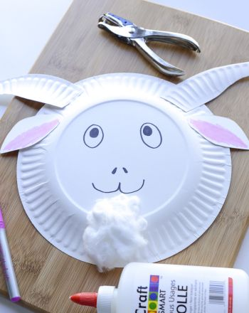 G is for goat Activities: Craft a Goat Mask- paint with fork to make fur