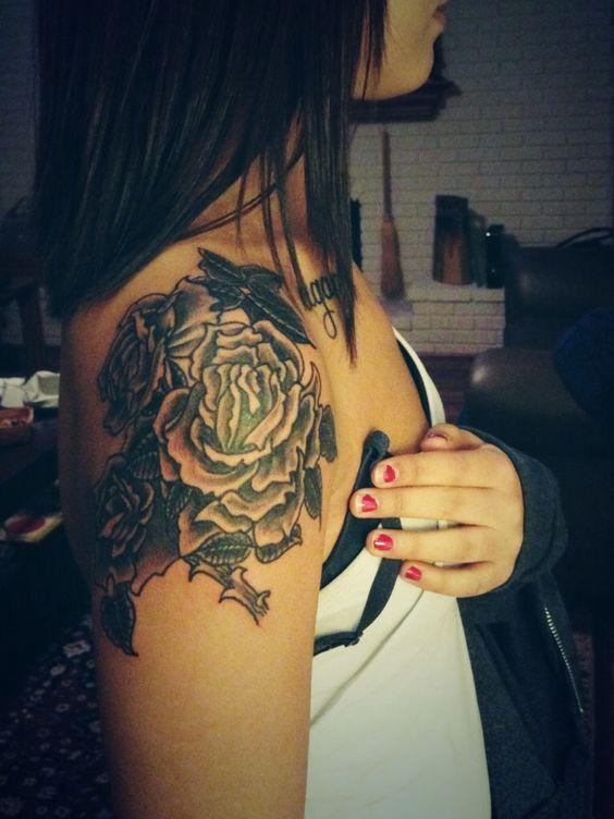Rose half sleeve tattoo   Tattoos.   Pinterest   Half sleeves, Sleeve and Love