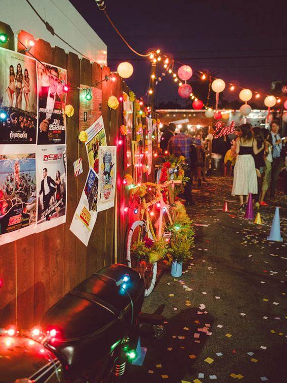 // street festival wedding reception // Heirloom LA Party   photo by Stephanie Collins   100 Layer Cake