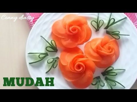 Cara Membuat Garnish Mawar Dari Wortel How To Make Carrot Rose
