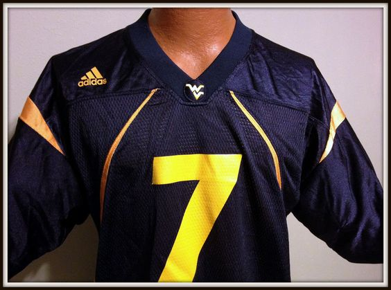 WEST VIRGINIA MOUNTAINEERS ADIDAS REPLICA JERSEY ADULT MEDIUM NUMBER 7 DONOVAN #adidas #WestVirginiaMountaineers