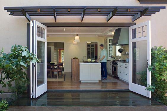 indoor / outdoor kitchen. Need this type of door.