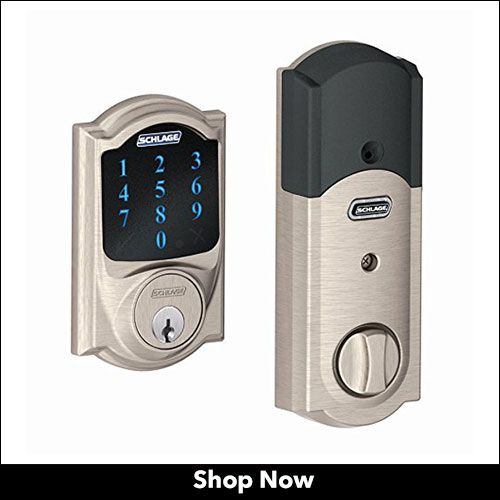 Schlage Connect Z Wave Smart Lock Compatible With Alexa Smart Deadbolt Electronic Deadbolt Smart Door Locks