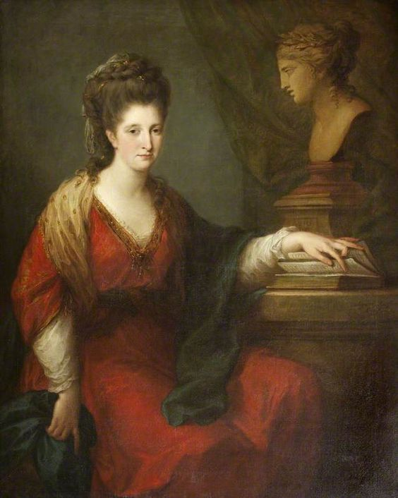 Books and Art: Frances Ann Acland, Lady Hoare (1773). Angelica...