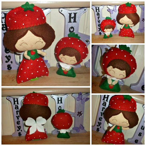Strawberry Fairies Collectable Doll Set  by HarveyshouseCrafts