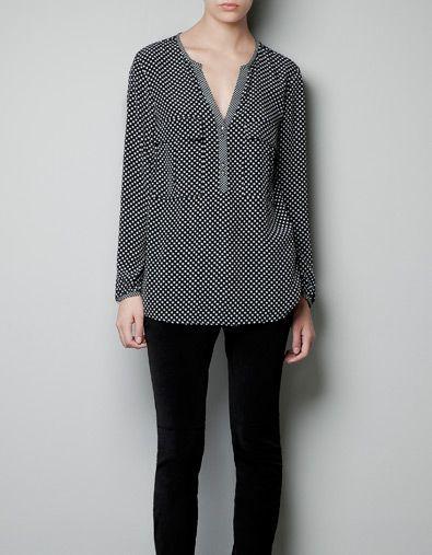 Zara Star Print Blouse 85