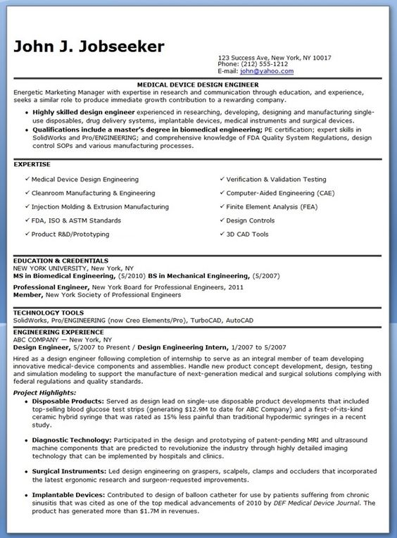 design engineer resume examples for experienced professionals are a great resource to write your own compelling resume - Resume Examples For Experienced Professionals