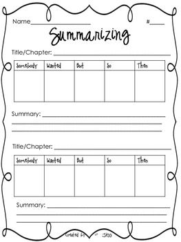 Printables Summarizing Worksheets somebody wanted but so then summarizing worksheet it has the perfect for doing a modelguided and