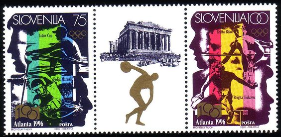 Stamps from Slovenia | Atlanta 1996, Olympic Games