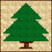 Log Cabin Christmas Tree Quilt Pattern - Janet Wickell