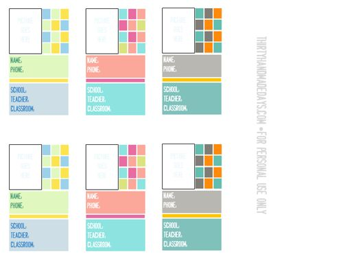 Back To School Backpack Tags  Backpack Tags Tag Templates And School