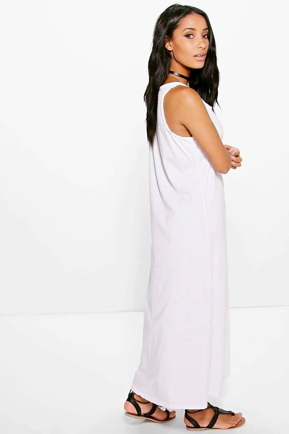 Melinda Button Front Maxi Dress at boohoo.com: