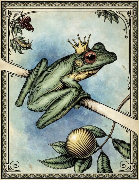 The Frog Prince ~ Illustration by Mike Schley at Coroflot.com