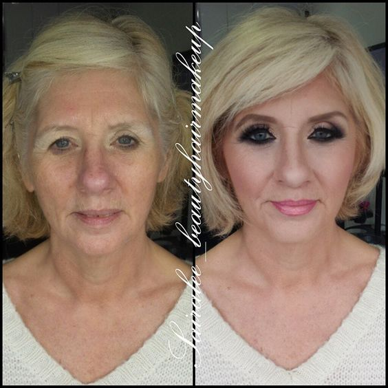 Dramatic contouring before and after