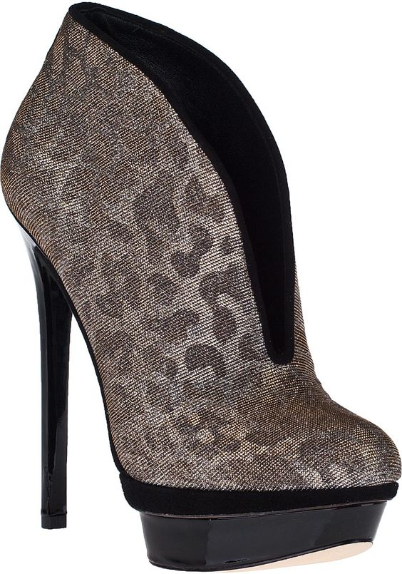 Fortosa Ankle Boot Silver Glitter Fabric
