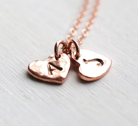 173 Deuxgether Sweetheart Monogram collier par LustreModernJewelry, $39.00