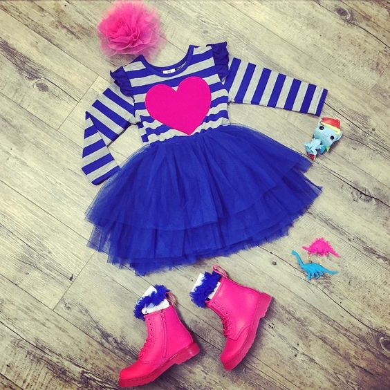 GIRLS PICK OF THE WEEK!! @rock_your_baby tuelle clip, @hootkid Love You Lots tutu dress, @drmartensofficial Delany Neon Pink Boots, @pop.vinyl Rainbow Dash figure!
