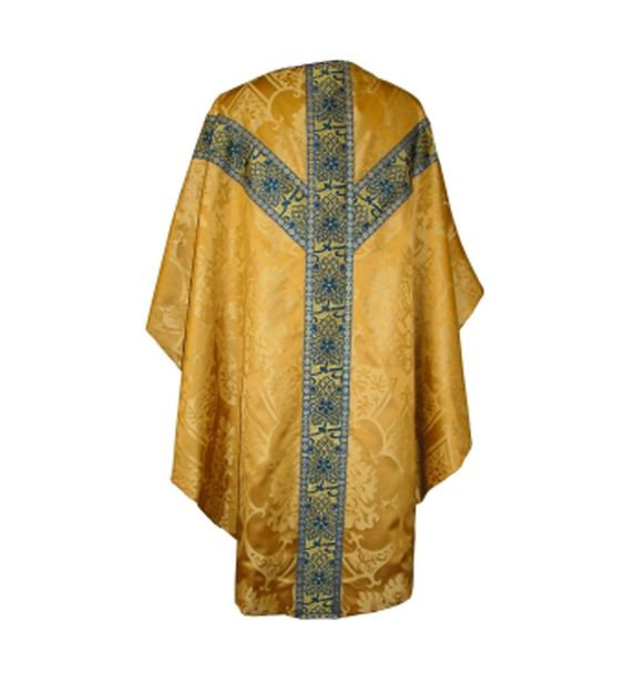 Gothic Chasuble & Stole - Gold 'Gothic' silk damask - Chasubles - Vestments