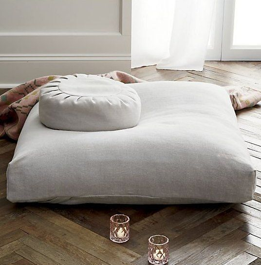Sedona Large Zabuton Floor Pillow Reviews Cb2 In 2021 Floor Pillows Meditation Room Meditation Room Design