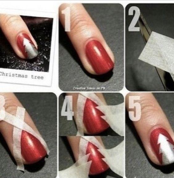 Christmas Tree nails!:
