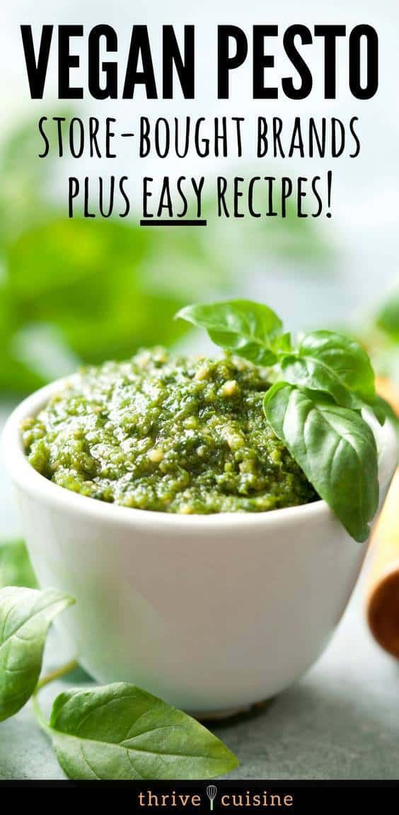 5 Vegan Pesto Sauce Brands Dairy Free To Buy Is Pesto Vegan Vegan Recipes Healthy Vegan Pesto Recipe Vegan Pesto Sauce