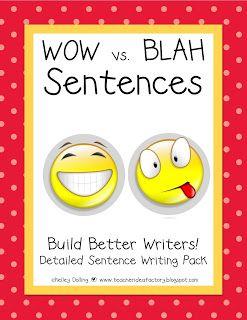 build better sentence writers wow vs blah sentences packet grades 1 3 top teachers. Black Bedroom Furniture Sets. Home Design Ideas