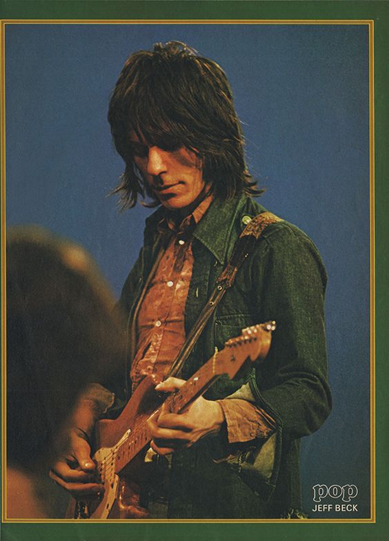 """rockandrollpicsandthings: """" Jeff Beck, page from swiss magazine POP 1972 """""""