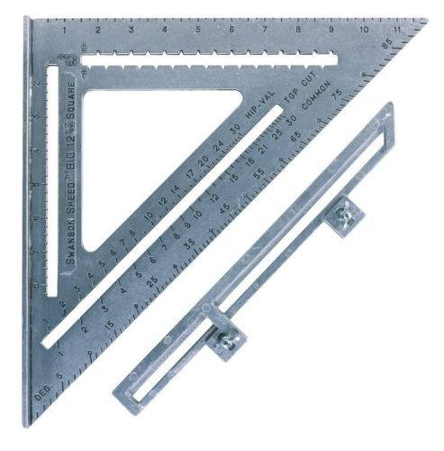 Swanson Tool So107 The Big 12 Speed Square With Layout Bar 12 Inch X 12 Inch Speed Square Swanson Speed Square Stair Layout
