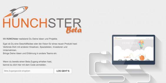 #Startup vorgestellt: HUNCHster - Plattform für deine Ideen & Projekte