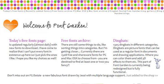 Font Garden