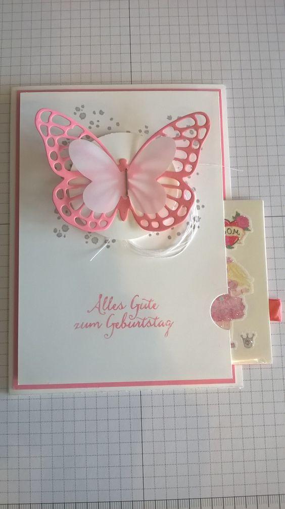 Stampin Up! Geburtstagskarte mit Überraschungsschublade :-)