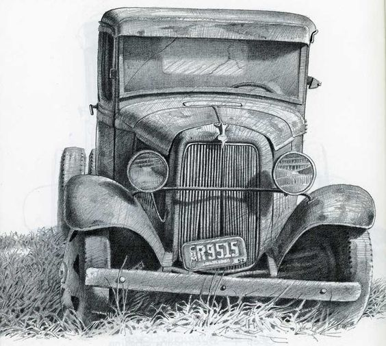 Pencil Drawings Of Old Houses Old Ford By Gene Franks