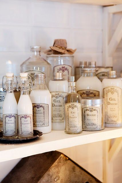 Genie in a bottle apothecaries bath and apothecary jars for Bathroom bottles