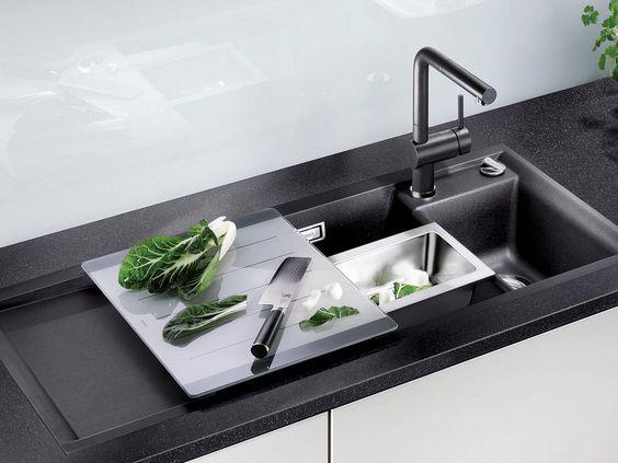 Reine Geschmackssache? Edelstahl, Granit, Keramik oder Kunststoff - küchenspüle mit unterschrank