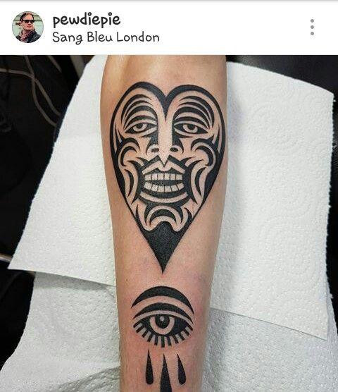 pewdiepie butt tattoo