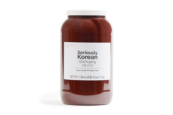 Seriously Korean Gochujang, 1 Gallon Plastic Jar 138 OZ (3.9 Kg)