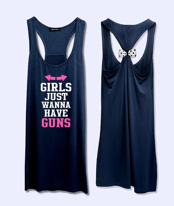 Girl just wanna have guns too work out  fitness bow by VintTime, $24.00 - Pink