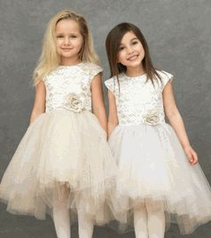 Halabaloo Beautiful Silver Lace Ballerina Hi Lo Dress  *Top Seller*