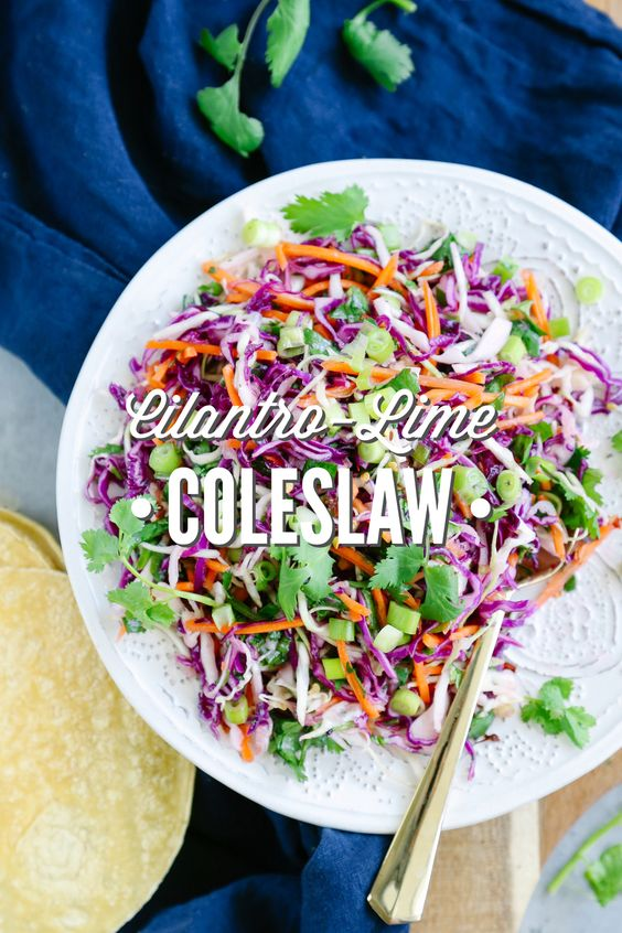This Cilantro-Lime Coleslaw is perfect for sandwiches, tacos, or as an ...