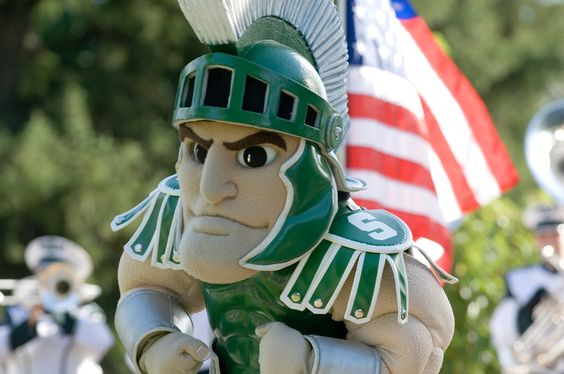 Sparty & the Flag